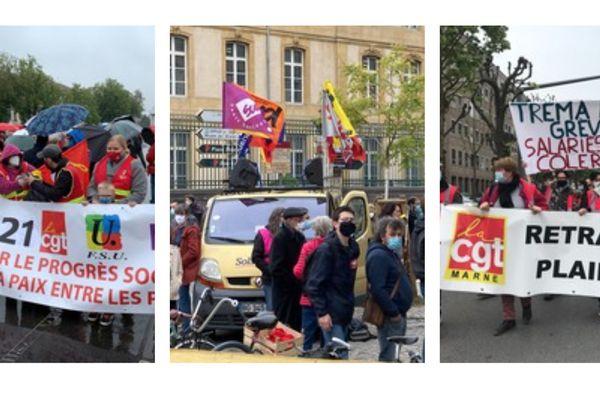 1er mai 2021 à Mulhouse, Nancy et  Reims