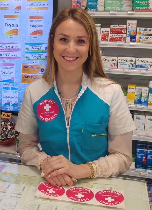 Marie Sala, qui a suivi la formation proposée par le CFA, est désormais préparatrice en pharmacie.