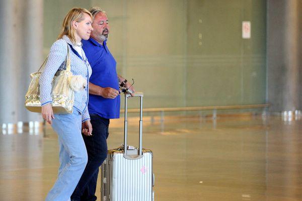Margarita Louis-Dreyfus  à son arrivée jeudi à l'aéroport de Marignane.