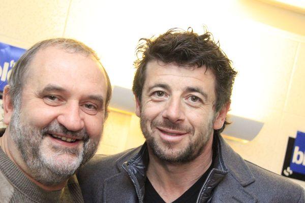 Tonton Sigismond animait Rock Solo sur Fréquence Nord. Ici dans les locaux de France Bleu avec Patrick Bruel.