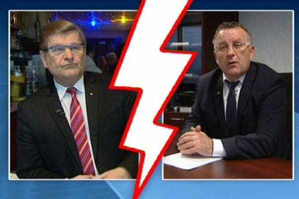 Tous deux vice-présidents, Jean-Marie Janssens (g) et Jean Luc Brault (d) s'affronteront aux élections départementales sur le canton de Montrichard.