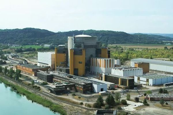 La centrale de Creys-Malville en cours de démantèlement