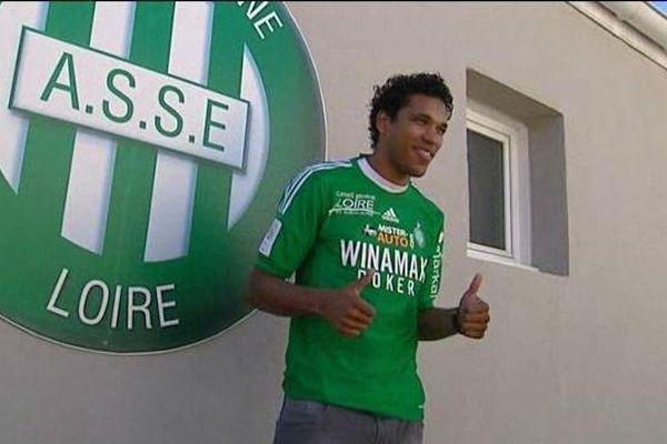 Brandao lors de son arrivée dans le club stéphanois, le 14/08/2012