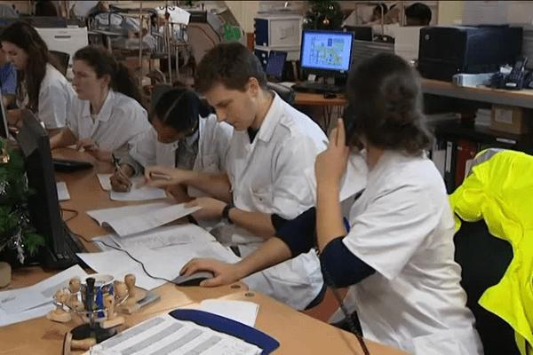 Beaucoup d'activité au service des urgences du CHU de Limoges durant la nuit de la Saint-Sylvestre