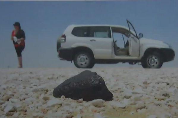 Une météorite, la chasse préférée de Fabien Kuntz et sa femme Marie