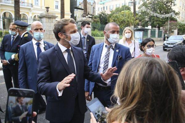 09/09/2020. Emmanuel Macron commémore la libération de la Corse à Ajaccio.