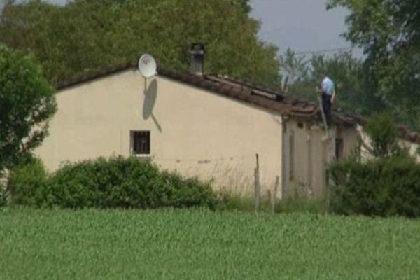 Le pavillon du couple à Sainte-Ouenne où s'est déroulé le drame.