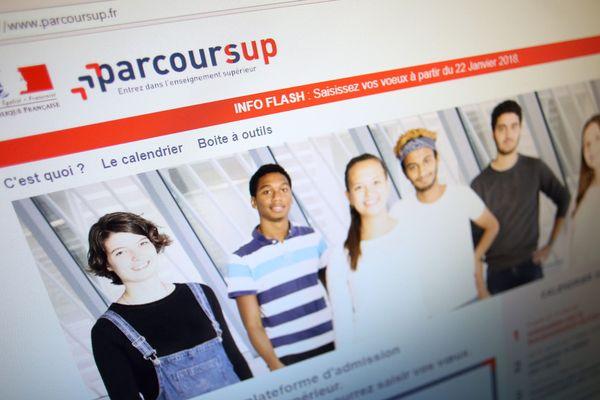 """Illustration du site """"Parcoursup""""."""
