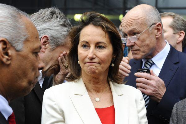 Ségolène Royal avec, à sa gauche, Alain Rousset, en février 2012.