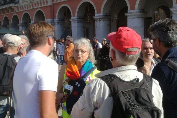 Geneviève Legay avec les gilets jaunes ce samedi 28 septembre