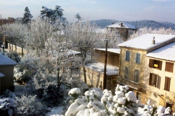 Draguignan sous la neige dimanche