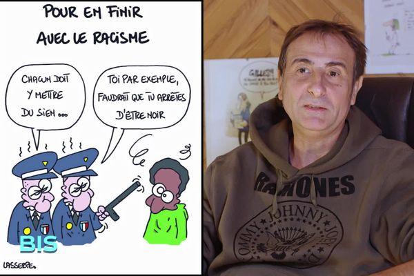 """Gilles Lafitte dit """"Lasserpe"""", dessinateur de presse"""