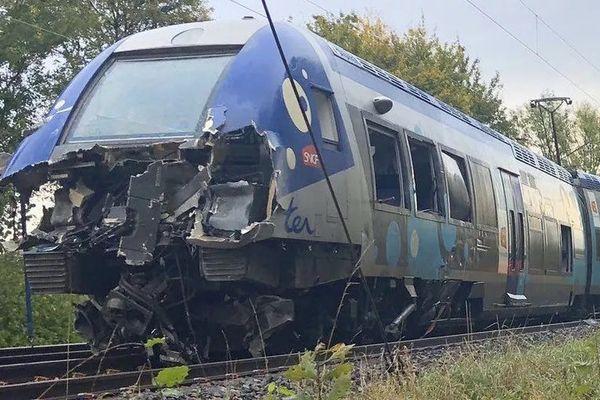 Le TER roulait entre Charleville et Reims lorsqu'il a percuté le convoi exceptionnel le 16 octobre 2019.