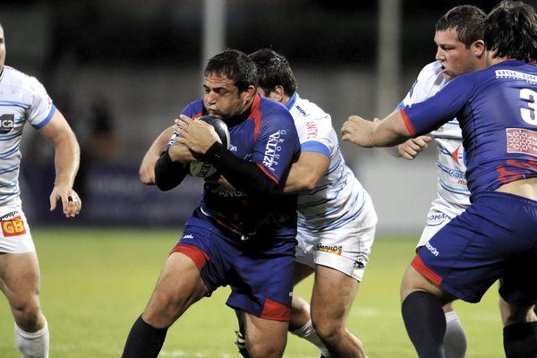 Rencontre des équipes de rugby en Pro D2 Colomiers - Béziers en octobre 2013