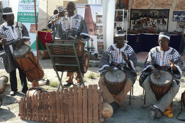 Groupe de musiciens du Burkina Faso.