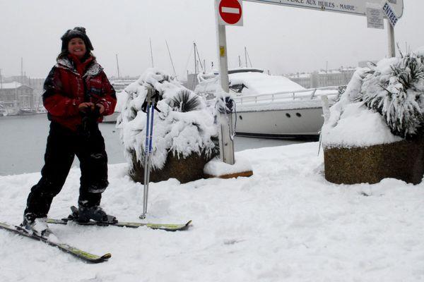 Les skieurs se sont régalés ce jour-là sur le Vieux-Port.