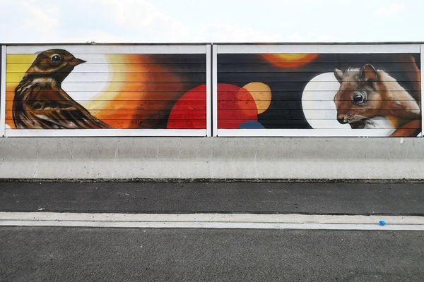 Pipit-des-arbres (peint par Bertrand Parse), écureuil (par Cyber) sont les deux premiers animaux à avoir été représentés. Au total, 53 espèces ont été peintes.