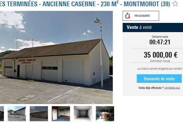 L'annonce telle qu'elle apparaît sur le site de ventes aux enchères agorastore.fr
