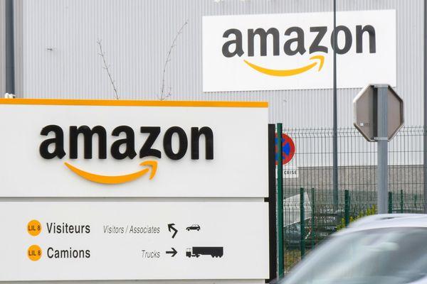 L'entrée d'Amazon à Lauwin-Planque