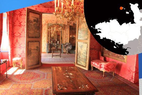 Un salon de la maison de Victor Hugo à Guernesey