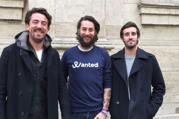 Luc Jaubert, Christian Delachet et Jérémie Ballarin, co-fondateurs de Wanted Community