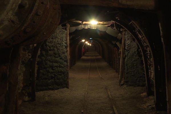 L'une des galeries de la mine-témoin d'Alès dans le Gard, un lieu de mémoire sociale et industrielle sur le passé minier des Cévennes.