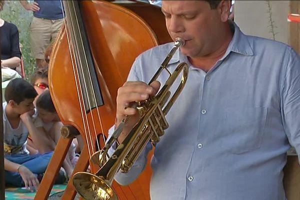 Le trompettiste nantais Geoffroy Tamisier, au Couvent des Cordeliers.