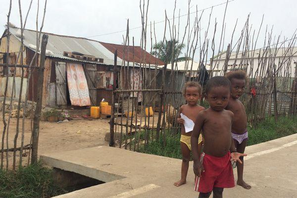 Maison des bas-quartiers de la ville de Majunga