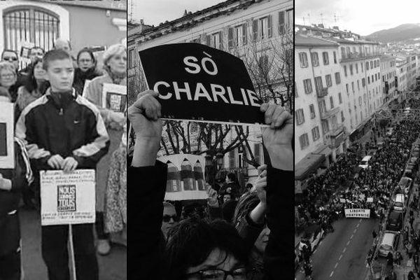 11/01/15 - La Corse a défilé en mémoire de Charlie Hebdo