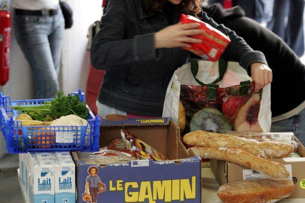 Distribution de nourriture. Photo d'illustration.