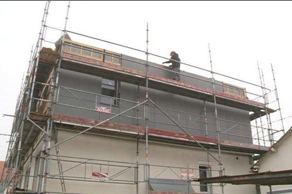 Un chantier de rénovation sur une maison de la commune de Bois-Guillaume, près de Rouen.