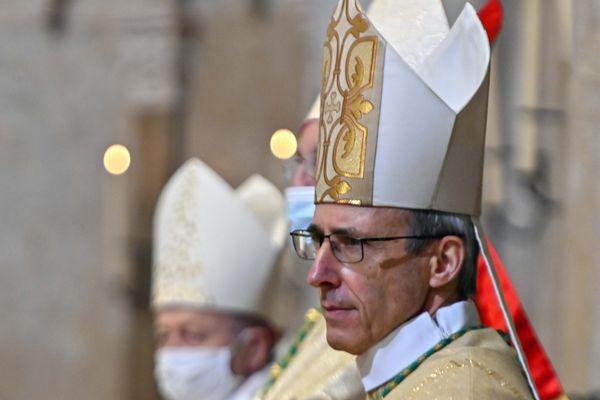Lyon, le 20 decembre 2020 - Mgr Olivier de Germay, le nouvel archevêque du diocèse de Lyon, prend ses fonctions.