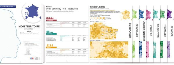 Exemple d'une des 1 264 fiches territoriales préparées pour le grand débat national.