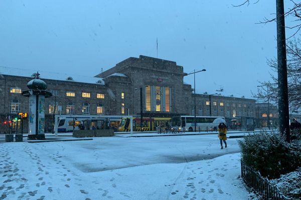 La gare de Mulhouse ce matin.