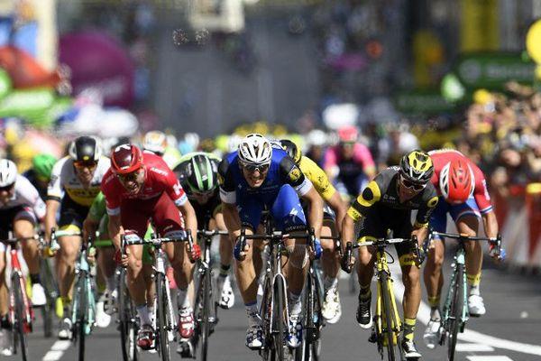 L'arrivée au sprint de la 4ème étape du Tour de France 2016 à Limoges.
