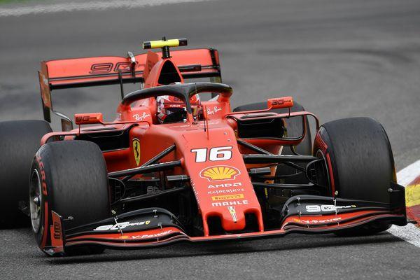 Charles Leclerc, ce dimanche au volant de sa Ferrari sur le circuit mythique de Spa-Francorchamps