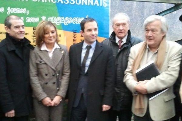 Le ministre délégué à l'économie solidaire et sociale au conseil général de l'Aude