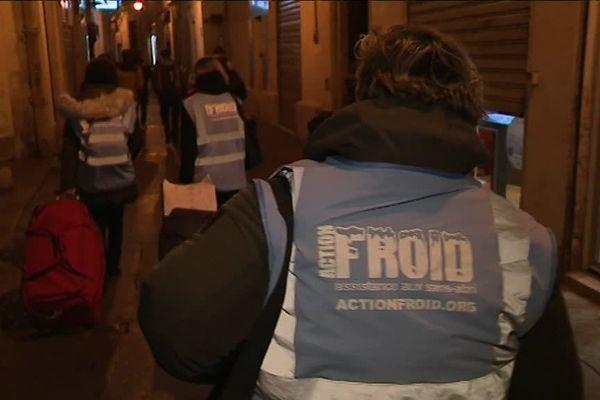 Les maraudes de l'association ActionFroid ont lieu tous les jeudis soirs dans les rues de Montpellier.