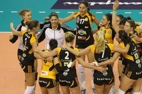 Les Cannoises étaient habituées à victoire, comme ici en ligue des champions de volley-ball.