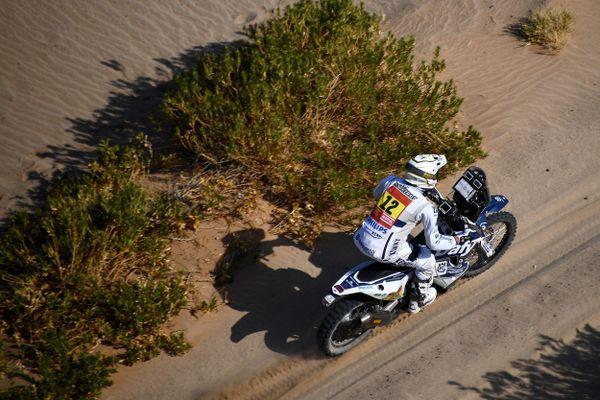 Xavier de Soultrait sur sa moto le 6 janvier 2021.