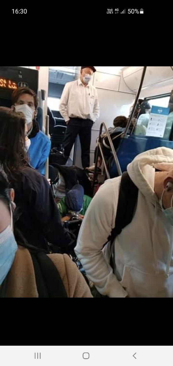 photo prise à bord du train Cherbourg- Paris ce lundi 24 mai