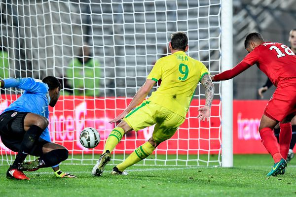 Football 8ème de finale de la coupe de la Ligue Nantes contre Montpellier 2ème but de Sala 13/12/2016