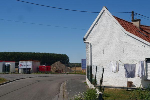 Nord: un chantier met à jour un nouveau puits de mine sur la commune d'Hasnon près de Valenciennes.