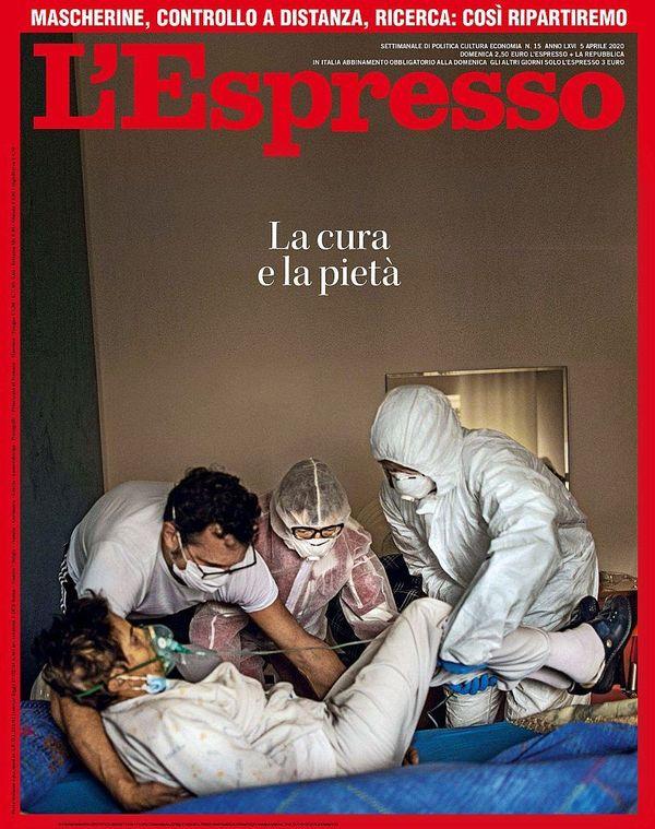 Photo de Fabio Bucciarelli en couverture de l'Espresso, magazine italien, le 10 avril dernier.
