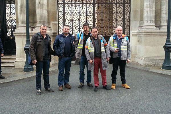 La délégation syndicale au palais de l'Elysée