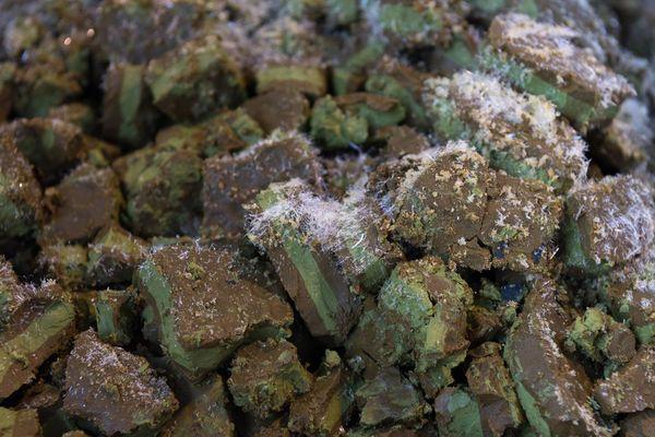 Les piles plates sont extraites, découpées minutieusement pour éviter de les faire exploser, puis broyées pour récupérer les précieux métaux.