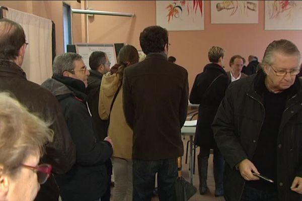Un bureau de vote de La Madeleine ce dimanche matin de 2e tour.