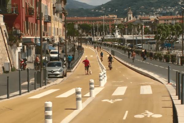 Le quai Lunel à Nice.