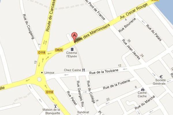 Carte de Limoux (Aude)