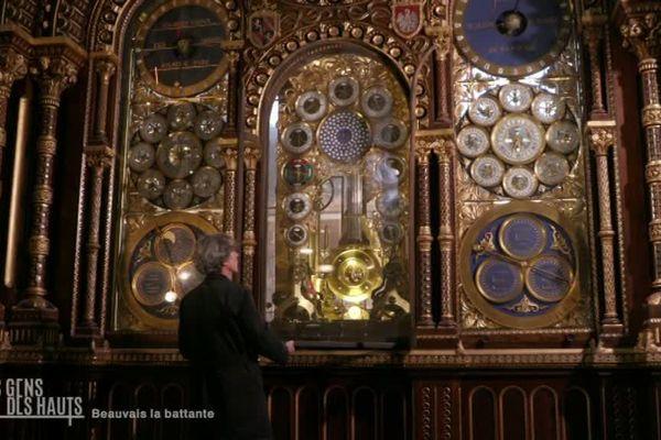 Jean-Paul Crabbe et l'horloge astronomique de la cathédrale de Beauvais